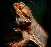 Golden Bearded Dragon by Iarphoto