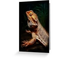 Golden Bearded Dragon Greeting Card