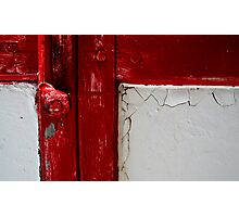 Latch Crack Photographic Print