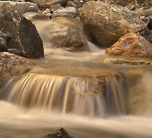 River cascade in Tajik mountains by Michal Cerny