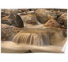 River cascade in Tajik mountains Poster