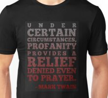Mark Twain on Profanity Unisex T-Shirt