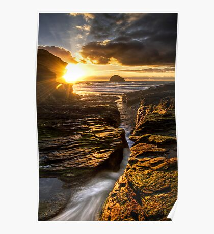 Trebarwith HDR Poster