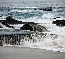 Laguna Beach, California - Waves and Rocks by Phil Roberson