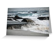 Laguna Beach, California - Waves and Rocks Greeting Card