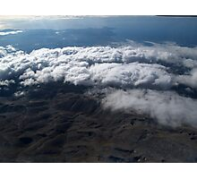 flying over the clouds  Photographic Print