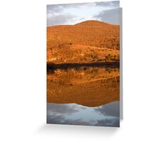 Landscape perfectly reflected in Palsko lake Greeting Card
