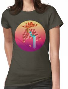 An isometric sunset Womens Fitted T-Shirt