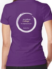 College Life Quote Women's Fitted V-Neck T-Shirt