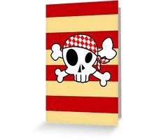 Pirate Skull Crewman Greeting Card