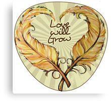 Love will grow Canvas Print