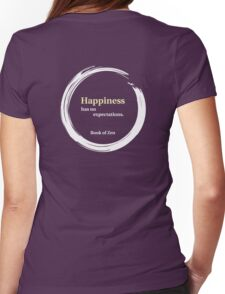 Inspirational Happiness Quote Womens Fitted T-Shirt