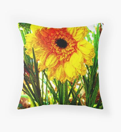 Sunshine Flower Throw Pillow