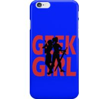 Geek girl 3 4 sleeve baseball geek funny nerd iPhone Case/Skin