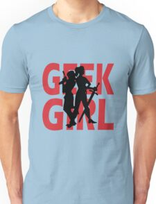 Geek girl 3 4 sleeve baseball geek funny nerd Unisex T-Shirt
