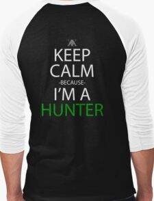 hunter x hunter keep calm because i'm a hunter anime manga shirt Men's Baseball ¾ T-Shirt