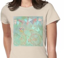 Magical Bicycle Tour enchanted, whimsical art Womens Fitted T-Shirt