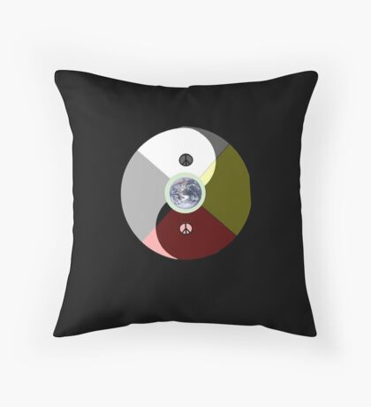 We are all human. Whats so wrong with peace? Throw Pillow