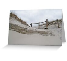 Sand Dune and Split Rail Fence Greeting Card