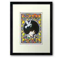Peace and Love poster Framed Print