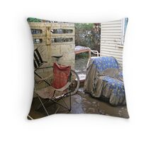 Brisbane Floods 2011 - Aftermath - Out The Back Throw Pillow