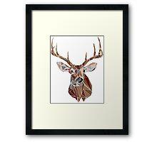 Geo Buck Framed Print
