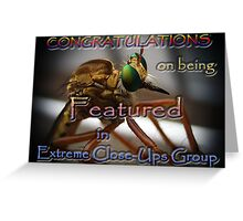 Feature Banner Challenge EXTREME CLOSE-UPS  Greeting Card