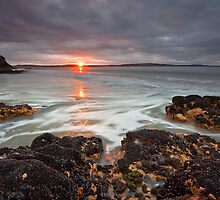 Sunrise from Tyndall Beach Rocks, Tasmania by Chris Cobern