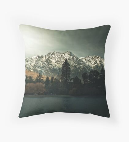 Dark Trees - New Zealand Landscape Throw Pillow