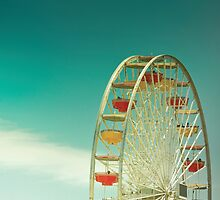 Santa Monica Ferris Wheel by Cubagallery