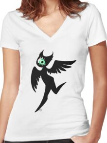 Vivi eyemonster Women's Fitted V-Neck T-Shirt
