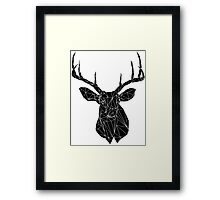 Buck the Line- Negative Framed Print