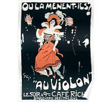 Jules Alexandre Grün Poster by Grün for the Café Riche Paris 1898 Poster