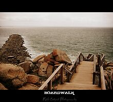 Boardwalk, Victor Harbour by Ruth Eckert