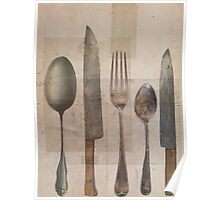 Vintage Cutlery Poster