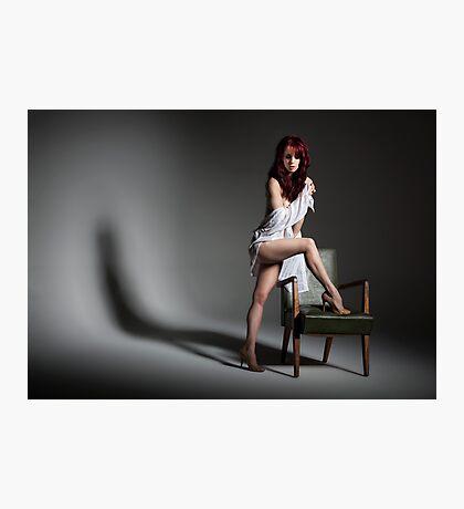 A Girl & An Armchair Photographic Print