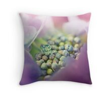 Abstract Macro Flower Throw Pillow