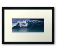 Bodyboarder At Banzai Pipeline 2011.4 Framed Print