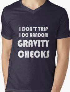 Gravity check geek funny nerd Mens V-Neck T-Shirt