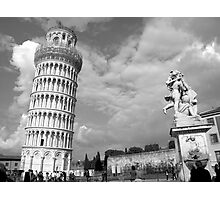 Tower & Statue - Pisa, Italy Photographic Print