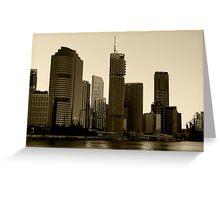Brisbane skyscrapers Greeting Card