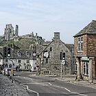 A Street In Corfe Castle Village by lynn carter