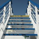 Stairs to the deck by Michele Filoscia