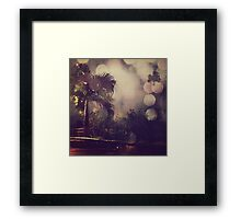 Palm tree and the night Framed Print