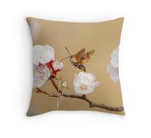 hawk-moth comes Throw Pillow