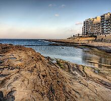 The coast at Sliema - Malta by NeilAlderney