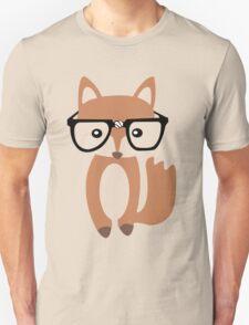 Hipster baby fox w glasses geek funny nerd Unisex T-Shirt