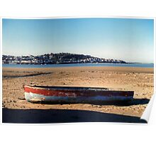 Beached at Instow Poster