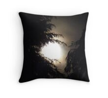 Supermoon V 19/3/11 between the trees Throw Pillow