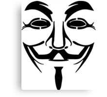 Anonymous Mask Silhouette Canvas Print